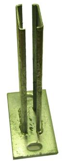 Dübelplatte Formrohrsäule