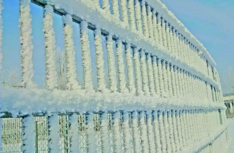 H+S Zaun im Winter