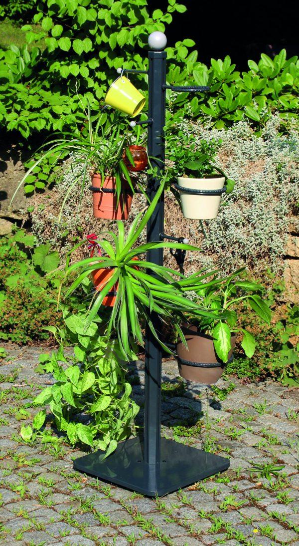 Blumen und Solarleuchte
