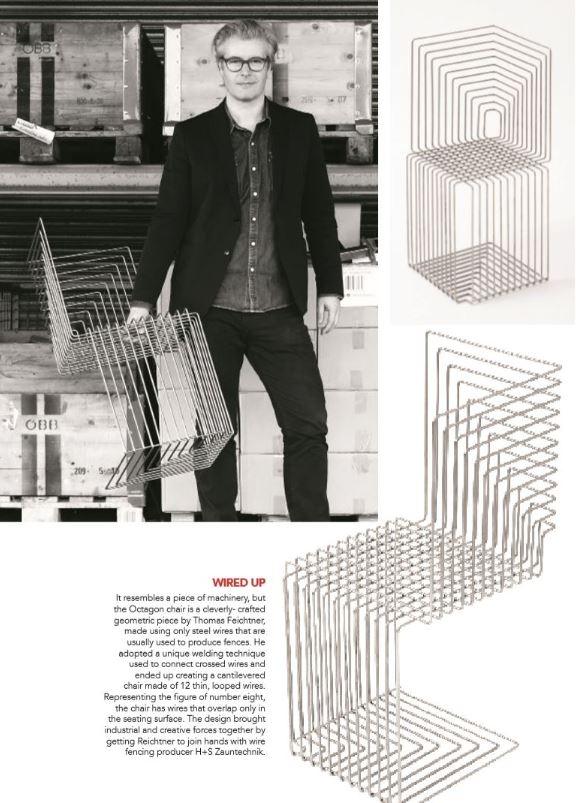 """""""Octagon Chair"""" in indischem Designmagazin"""